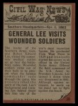 1962 Topps Civil War News #39   General Lee Back Thumbnail