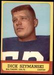 1963 Topps #7   Dick Szymanski Front Thumbnail