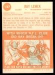 1963 Topps #127  Ray Lemek  Back Thumbnail