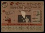 1958 Topps #69   Wally Burnette Back Thumbnail