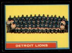 1962 Topps #62   Lions Team Front Thumbnail