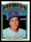 1972 Topps #12  Jose Cardenal  Front Thumbnail