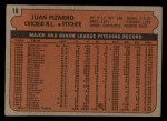 1972 Topps #18 COR  Juan Pizarro Back Thumbnail