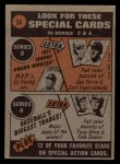 1972 Topps #34  In Action  -  Billy Martin Back Thumbnail
