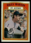 1972 Topps #34  In Action  -  Billy Martin Front Thumbnail