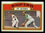 1972 Topps #42  In Action  -  Tommy Davis Front Thumbnail