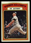 1972 Topps #52  In Action  -  Harmon Killebrew Front Thumbnail