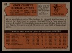 1972 Topps #84   Vince Colbert Back Thumbnail