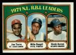 1972 Topps #87  1971 NL RBI Leaders    -  Hank Aaron / Willie Stargell / Joe Torre Front Thumbnail