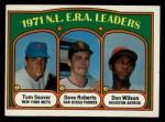 1972 Topps #91  1971 NL ERA Leaders    -  Dave Roberts / Tom Seaver / Don Wilson Front Thumbnail