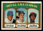 1972 Topps #91  NL ERA Leaders    -  Dave Roberts / Tom Seaver / Don Wilson Front Thumbnail