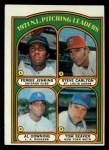 1972 Topps #93  1971 NL Pitching Leaders    -  Steve Carlton / Al Downing / Fergie Jenkins / Tom Seaver Front Thumbnail
