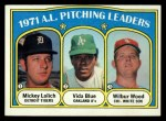 1972 Topps #94  AL Pitching Leaders    -  Vida Blue / Mickey Lolich / Wilbur Wood Front Thumbnail