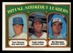 1972 Topps #95  NL Strikeout Leaders    -  Fergie Jenkins / Tom Seaver / Bil Stoneman Front Thumbnail