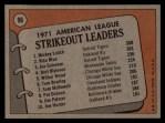 1972 Topps #96  1971 AL Strikeout Leaders    -  Vida Blue / Joe Coleman / Mickey Lolich Back Thumbnail
