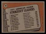 1972 Topps #96  AL Strikeout Leaders    -  Vida Blue / Joe Coleman / Mickey Lolich Back Thumbnail