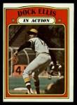 1972 Topps #180  In Action  -  Dock Ellis Front Thumbnail