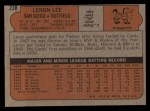 1972 Topps #238  Leron Lee  Back Thumbnail