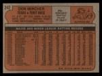 1972 Topps #242  Don Mincher  Back Thumbnail