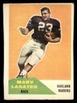 1960 Fleer #75   Marv Lasater Front Thumbnail