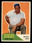 1960 Fleer #92  Buster Ramsey  Front Thumbnail