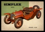 1953 Topps World on Wheels #29   Simplex Speed Car 1910 Front Thumbnail
