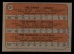 1972 Topps #334   Rangers Rookie Stars    -  Bill Fahey / Jim Mason / Tom Ragland Back Thumbnail