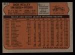 1972 Topps #412  Dick Kelley  Back Thumbnail