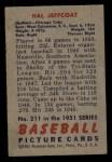 1951 Bowman #211   Hal Jeffcoat Back Thumbnail