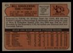 1972 Topps #424   Bill Gogolewski Back Thumbnail