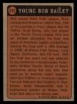 1972 Topps #493   -  Bob Bailey Boyhood Photo Back Thumbnail