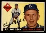 1955 Topps #195   Ed Roebuck Front Thumbnail