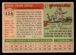 1955 Topps #114  Lou Ortiz  Back Thumbnail