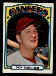 1972 Topps #242   Don Mincher Front Thumbnail
