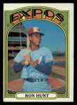 1972 Topps #110   Ron Hunt Front Thumbnail