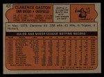 1972 Topps #431  Cito Gaston  Back Thumbnail