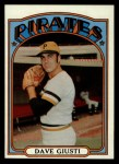 1972 #190  Dave Giusti  Front Thumbnail