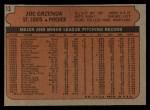 1972 Topps #13   Joe Grzenda Back Thumbnail