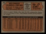 1972 Topps #265  Wes Parker  Back Thumbnail
