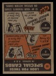 1972 Topps #44  In Action  -  Rick Wise Back Thumbnail