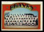 1972 Topps #21  Braves Team  Front Thumbnail