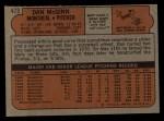 1972 Topps #473   Dan McGinn Back Thumbnail