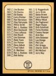 1968 Topps #518 AMR Checklist 7  -  Clete Boyer Back Thumbnail
