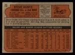 1972 Topps #73   Steve Huntz Back Thumbnail