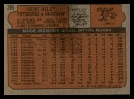 1972 Topps #286   Gene Alley Back Thumbnail