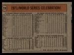 1972 Topps #230  1971 World Series - Summary - Pirates Celebrate Manny Sanguillen / Luke Walker / Gene Clines Back Thumbnail
