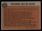 1962 Topps #144 GRN Farewell Speech  -  Babe Ruth Back Thumbnail