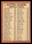 1969 Topps #1  1968 AL Batting Leaders  -  Carl Yastrzemski / Danny Cater / Tony Oliva Back Thumbnail