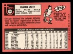 1969 Topps #538   Charlie Smith Back Thumbnail