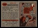 1957 Topps #140  Zeke Bratkowski  Back Thumbnail